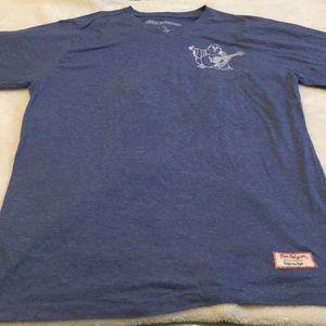 True Religion men's v-neck T-shirt blue Buddha